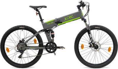 "LLobe E-Bike »FML-830 grey 27,5"", 10,4 Ah«, 9 Gang Shimano, Kettenschaltung, Heckmotor 250 W"