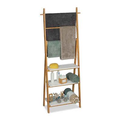 relaxdays Handtuchständer »Handtuchhalter Regal Bambus«
