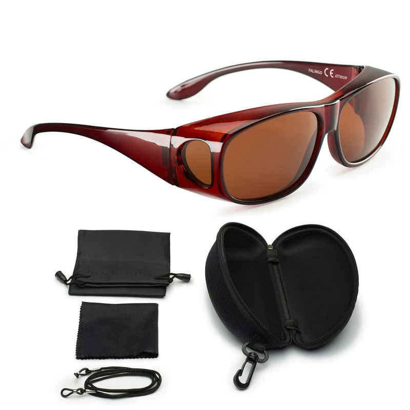 FALINGO Sonnenbrille »Sonnenüberbrille Überzieh Sonnenbrille Überbrille Überziehbrille CLASSIC EDITION polarisiert UV 400«