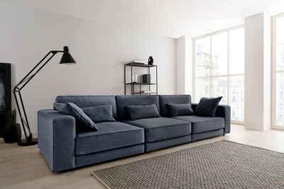 OTTO products Big-Sofa »Grenette«, Modulsofa, im Baumwoll-/Leinenmix oder umweltschoned aus 70% recyceltem Polyester, Federkern