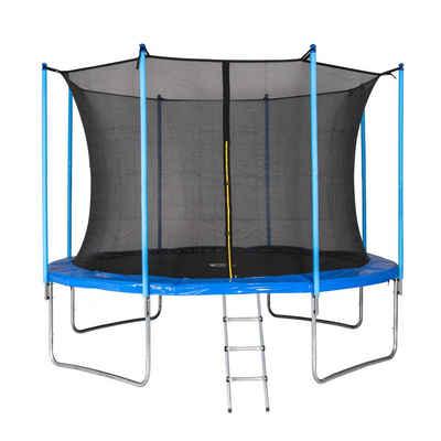 motionXperts Gartentrampolin »MotionXperts 366 cm«, Ø 366 cm, inkl. Sicherheitsnetz und Leiter, bis 150 kg belastbar