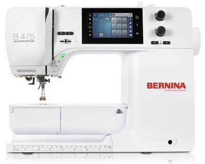 Bernina Nähmaschine 475 QE (Quiltmaschine), inklusive Kniehebel und Anschiebetisch