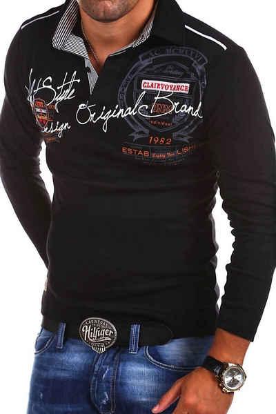 behype Poloshirt »Ambition« mit Hemdkragen und Prints