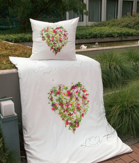 Bettwäsche »modern art 42051«, Janine, mit floralem Muster