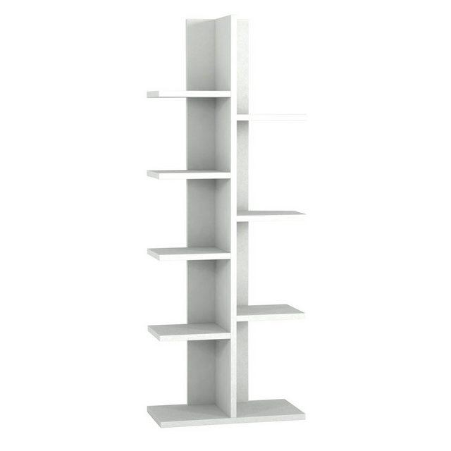 moebel17 Standregal »Bücherregal Tree Weiß« | Wohnzimmer > Regale > Einzelregale | moebel17