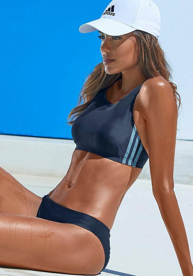 Bademode - adidas Performance Bustier Bikini im sportlichen Design › blau  - Onlineshop OTTO