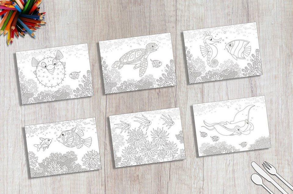 platzset »tischsets i platzsets  malvorlagen für kinder