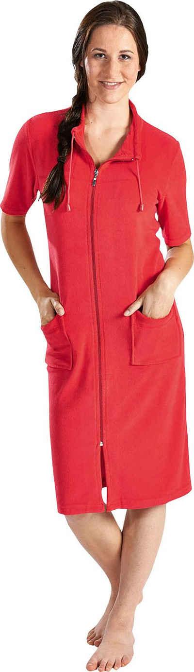 Damenbademantel »033«, Wewo fashion, Kragen mit Kordel