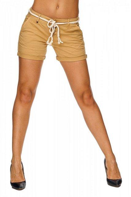 Hosen - SUBLEVEL Relaxshorts »1825« Damen kurze Chino Shorts MILA › natur  - Onlineshop OTTO