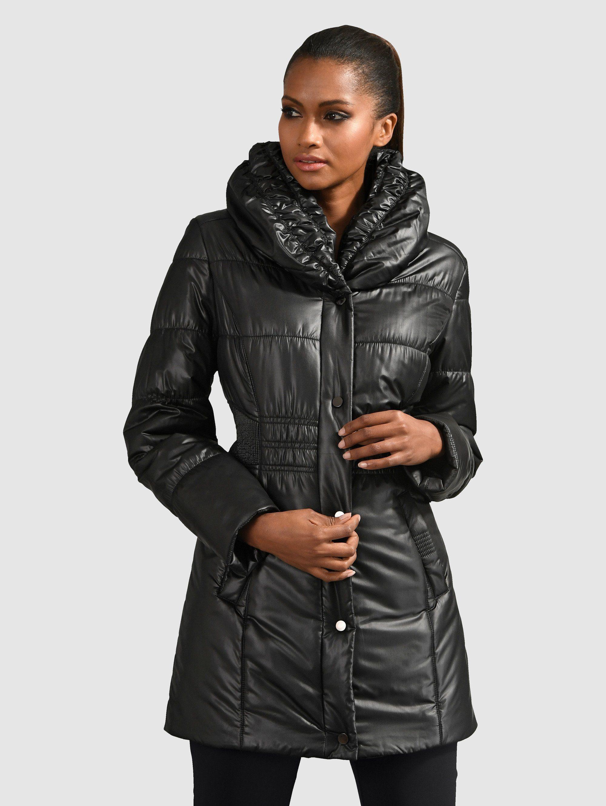 Alba Moda Jacke mit dezentem Glanz, Steppjacke mit eleganten Smoke Details online kaufen | OTTO