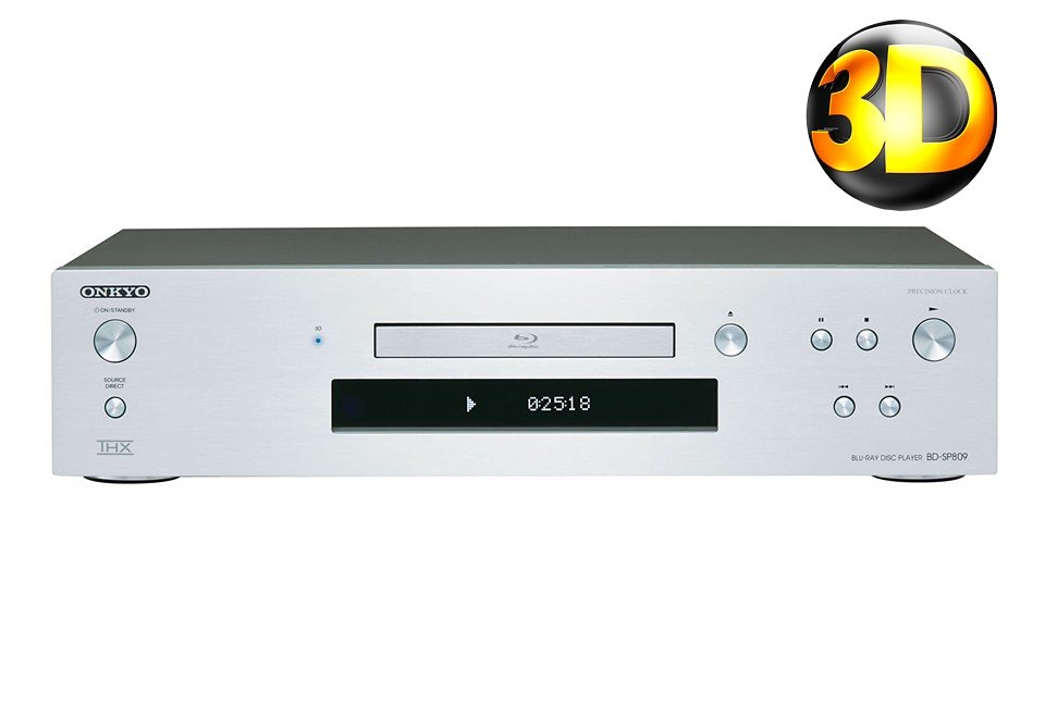 Onkyo BD-SP809 3D Blu-ray-Player in silber