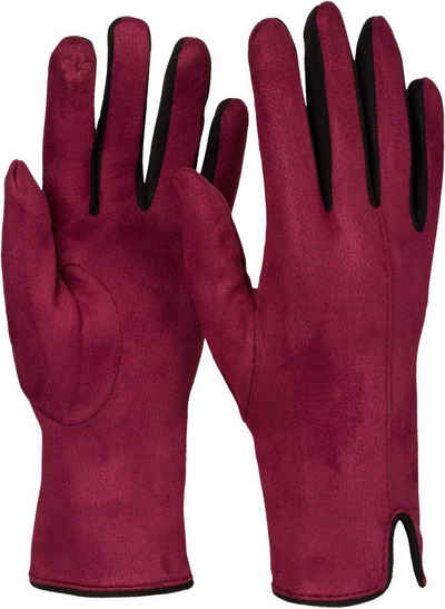 styleBREAKER Fleecehandschuhe Touchscreen Handschuhe Kontrast