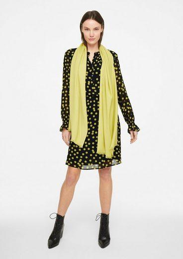 Comma Minikleid »Bedrucktes Kleid mit Smok-Details«