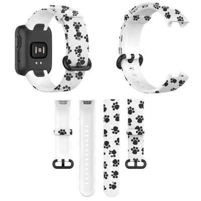 Wigento Für Xiaomi Mi Watch Lite / Redmi Watch Kunststoff / Silikon Armband Muster 2 Uhr Neu Fitnessband