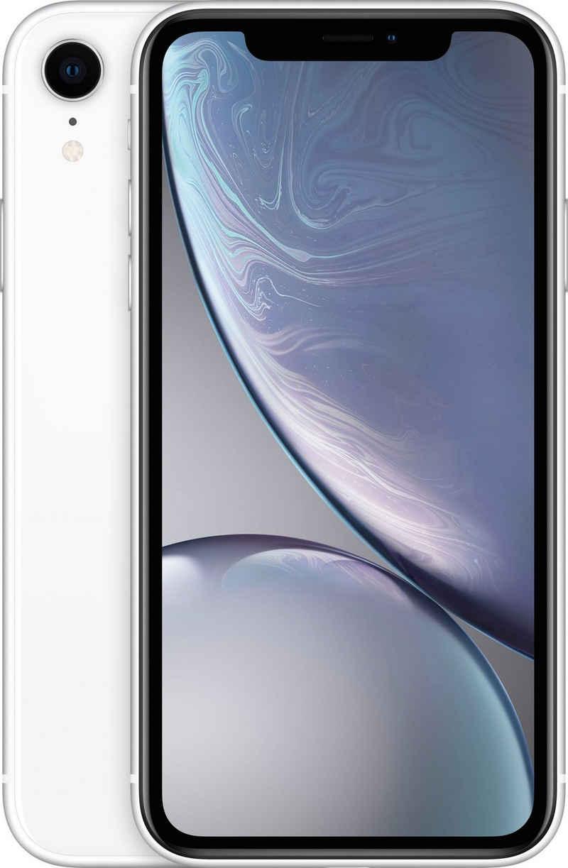 Apple iPhone XR 64GB Smartphone (15,49 cm/6,1 Zoll, 64 GB Speicherplatz, 12 MP Kamera, ohne Strom-Adapter und Kopfhörer)