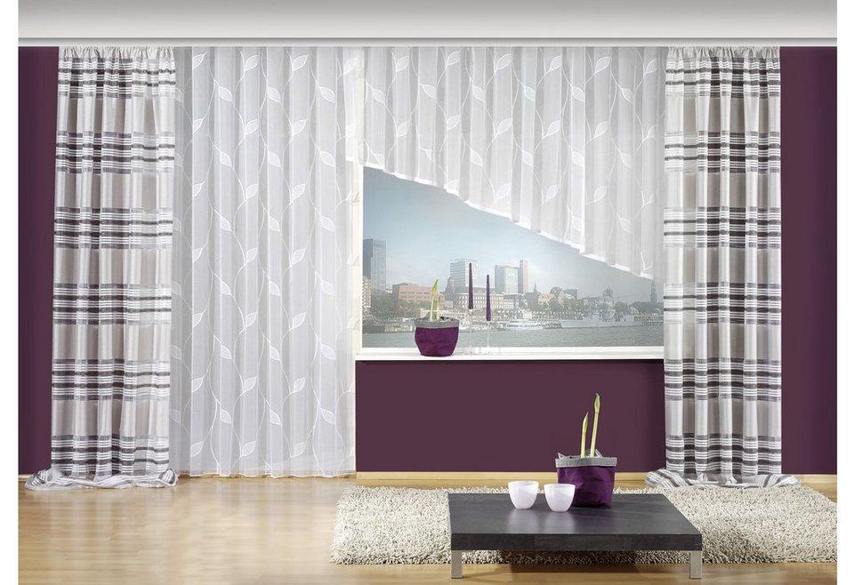 gardine schr ge links vhg cindy mit kr uselband 1. Black Bedroom Furniture Sets. Home Design Ideas