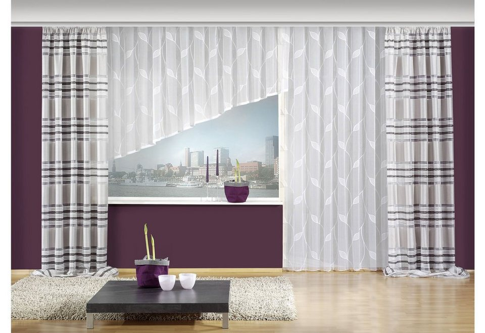 gardine cindy vhg kr uselband 1 st ck kaufen otto. Black Bedroom Furniture Sets. Home Design Ideas