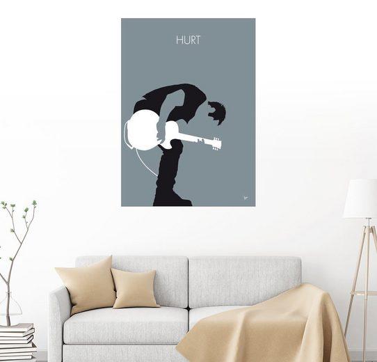 Posterlounge Wandbild, Premium-Poster Nine Inch Nails - Hurt