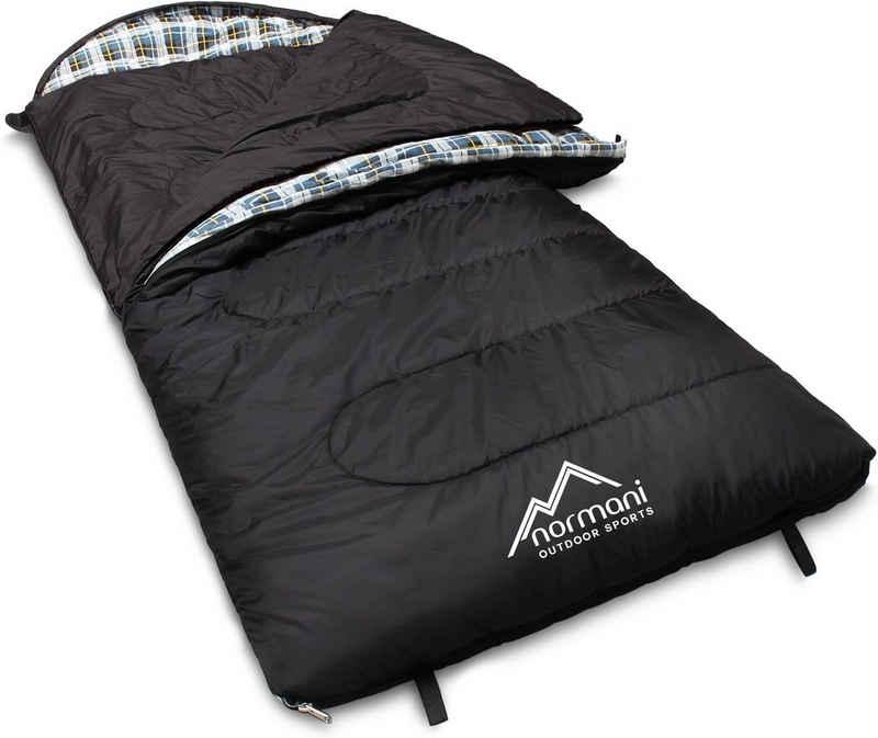 normani Deckenschlafsack »4-in-1 Schlafsack Antarctica«, Extrem 4-Jahreszeiten Outdoor-Schlafsack mit Inlett (Hüttenschlafsack) [+27°C bis -40°C] - RV Links