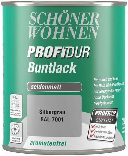 Schöner Wohnen Farbe Buntlack »ProfiDur seidenmatt, 750 ml silbergrau«