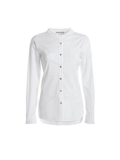 TUZZI Langarmbluse »TUZZI Langarm-Bluse verführerische Damen Hemd-Bluse mit Stehkragen Herbst-Bluse Weiß«
