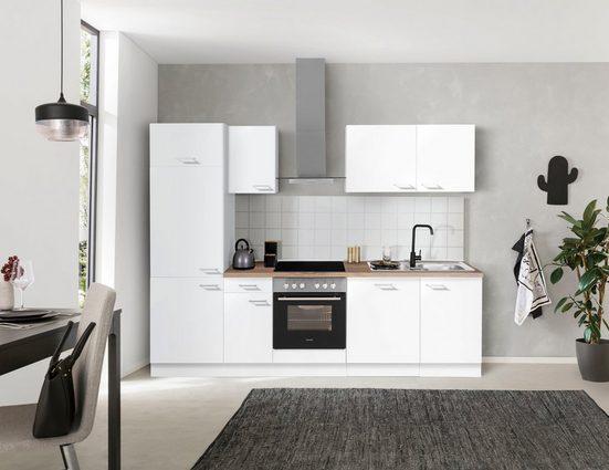 OPTIFIT Küchenzeile »Iver«, 270 cm breit, inkl. Elektrogeräte der Marke HANSEATIC, wahlweise mit oder ohne vollintegrierbaren Geschirrspüler, extra kurze Lieferzeit