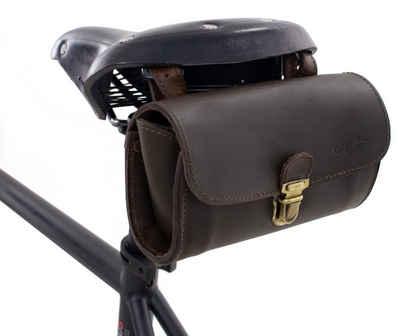 Gusti Leder Satteltasche »Wolfgang L.«, Satteltasche Lenkertasche Fahrradtasche Ledertasche Vintage Braun Leder Damen Herren