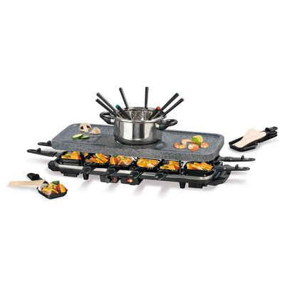 GOURMETmaxx Raclette und Fondue-Set, Granit-look