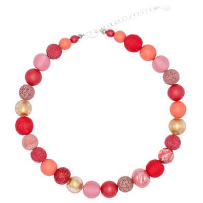 Stephisimo Perlenkette »Red Range« (inkl. Organza-Beutel), 45 cm lang, Halskette Damen, Made in Germany, mit Glas- und Keramikperlen