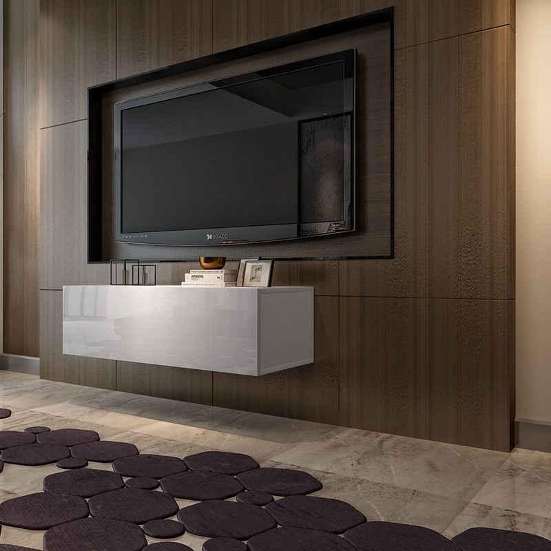Forsman Shop TV-Schrank »FCH 39 TV-Schrank Weiß, (100 x 40 x 30) cm (L x B x H), Stabiles Bein und glatte Oberfläche«