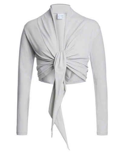 ESPARTO Yoga-Wickeljacke »Wickelshirt Dhaara in Bio-Baumwolle« variabel zu binden