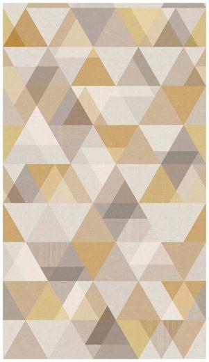 BODENMEISTER Fototapete »Dreiecke gold beige«, Rolle 2,80x1,59m