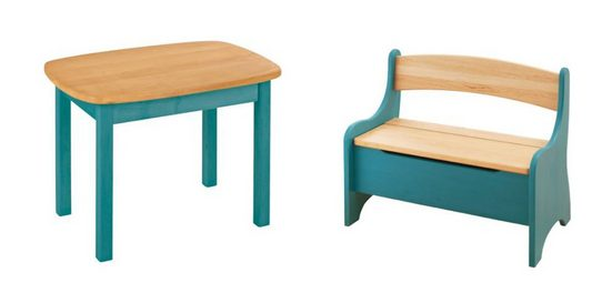 BioKinder - Das gesunde Kinderzimmer Kindersitzgruppe »Levin«, mit Tisch und Sitzbank, Sitzhöhe 30 cm