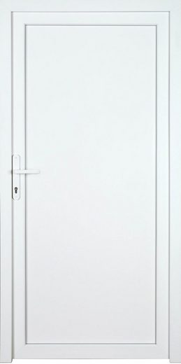KM MEETH ZAUN GMBH Nebeneingangstür »K704P«, BxH: 98x208 cm cm, weiß, links