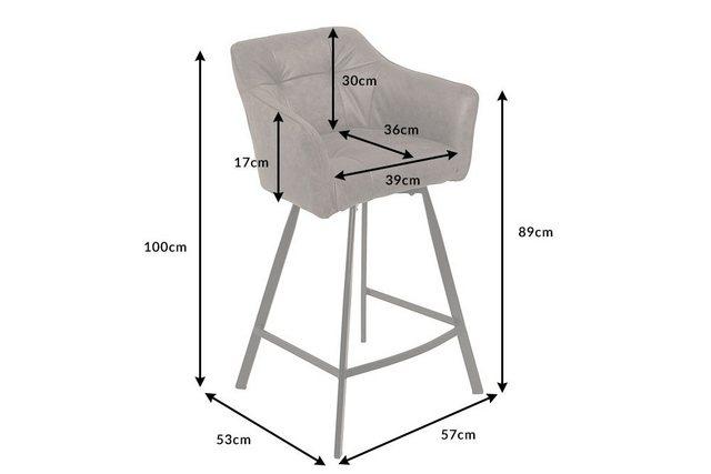 Barmöbel - riess ambiente Barhocker »LOFT 100cm taupe grau«, mit Fußablage  - Onlineshop OTTO