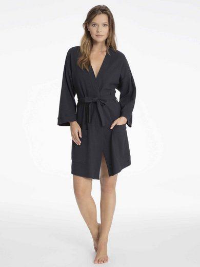 Damenbademantel »Bademantel in Kimono-Schnittform, Länge 85cm«, CALIDA, Made in Europe
