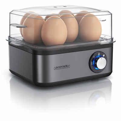 Arendo Eierkocher, Anzahl Eier: 8 St., 500 W, Edelstahl Eierkocher für bis zu 8 Eier