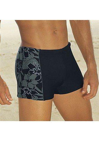 s.Oliver RED LABEL Beachwear Boxer-Badehose mit Innenkordel und Vorderfutter in schwarz