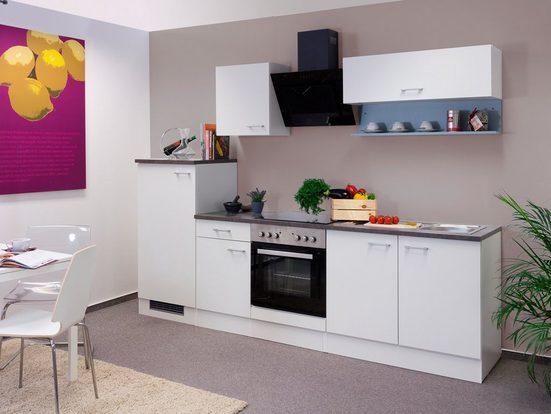 FLEX-WELL Küchenzeile mit E-Geräten »Lucca«, Gesamtbreite 270 cm