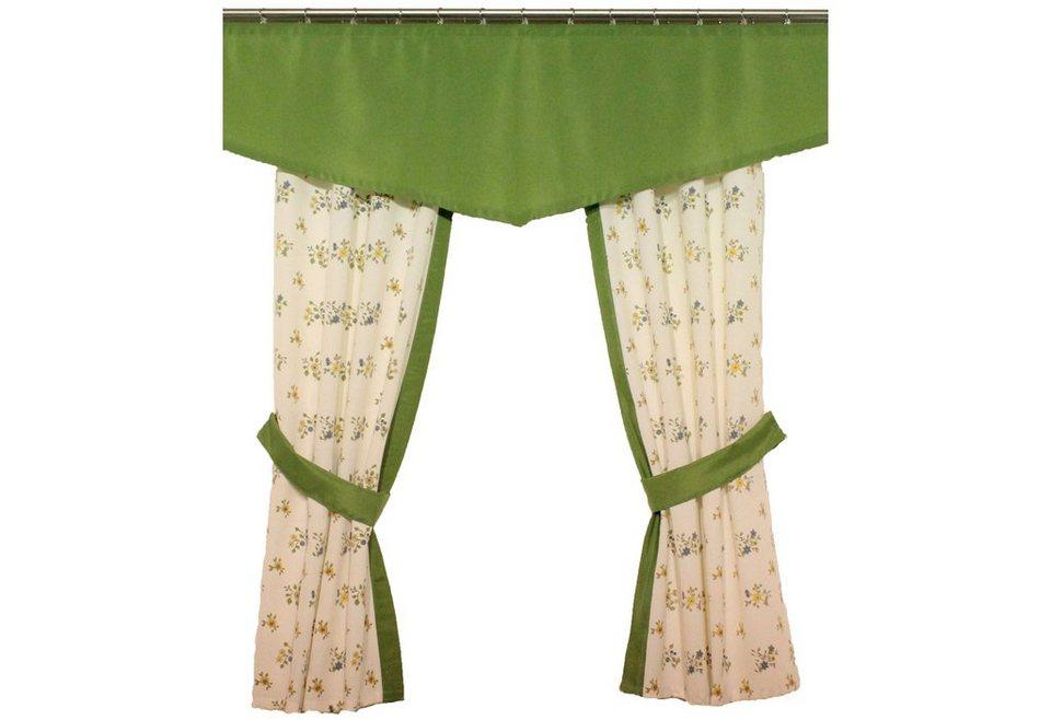 Vorhang, Wirth, »Magdalena« (2 Stück) in grün
