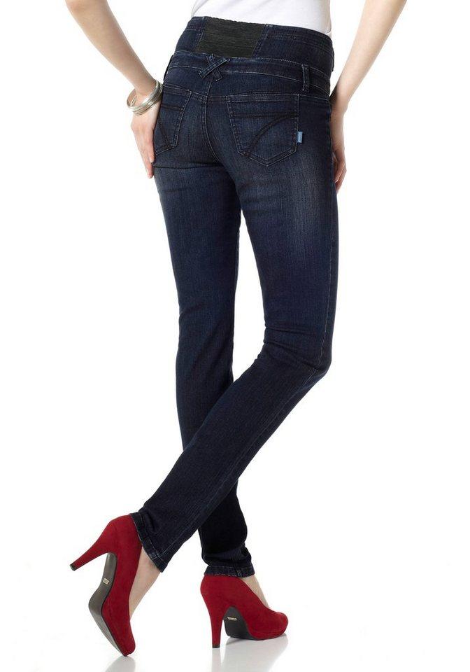 Arizona Slim-fit-Jeans High Waist Comfort-Stretch in dark-blue-used