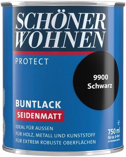 SCHÖNER WOHNEN FARBE Lack »Protect Buntlack«, seidenmatt, 750 ml, schwarz