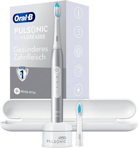 Oral B Schallzahnbürste Pulsonic Slim Luxe 4500, Aufsteckbürsten: 2 St.