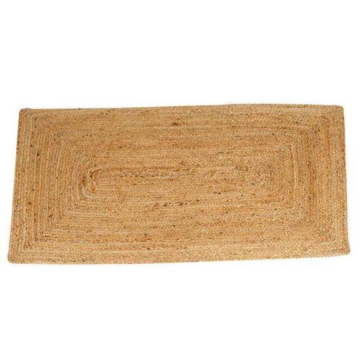Teppich »Casa Moro, Jute Teppich Esha Natur rechteckig, Teppich-Läufer im Boho-Stil aus Naturfaser Hand-geflochten & genäht, Für einfach schöner Wohnen«, Casa Moro, rechteckig, MA6006