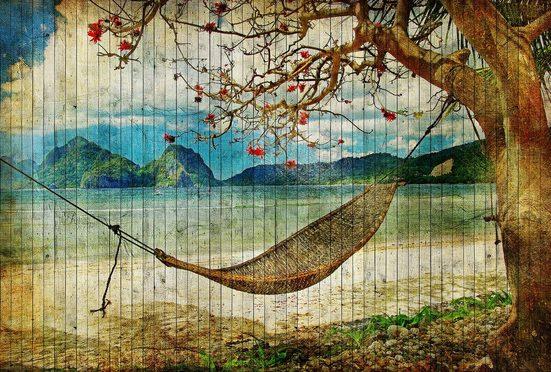 LIVINGWALLS Fototapete »Walls by Patel Tahiti 2«, Premium Vlies
