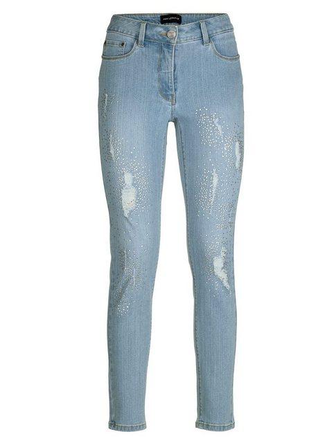 Hosen - Amy Vermont Jeans mit Strasssteindekoration und Destroyed Effekten › blau  - Onlineshop OTTO