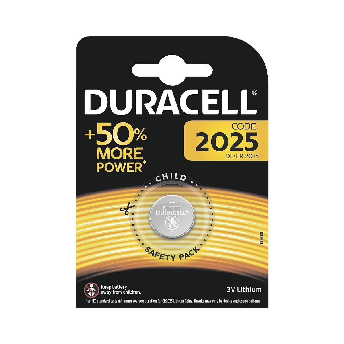 Duracell Knopfzelle CR 2025