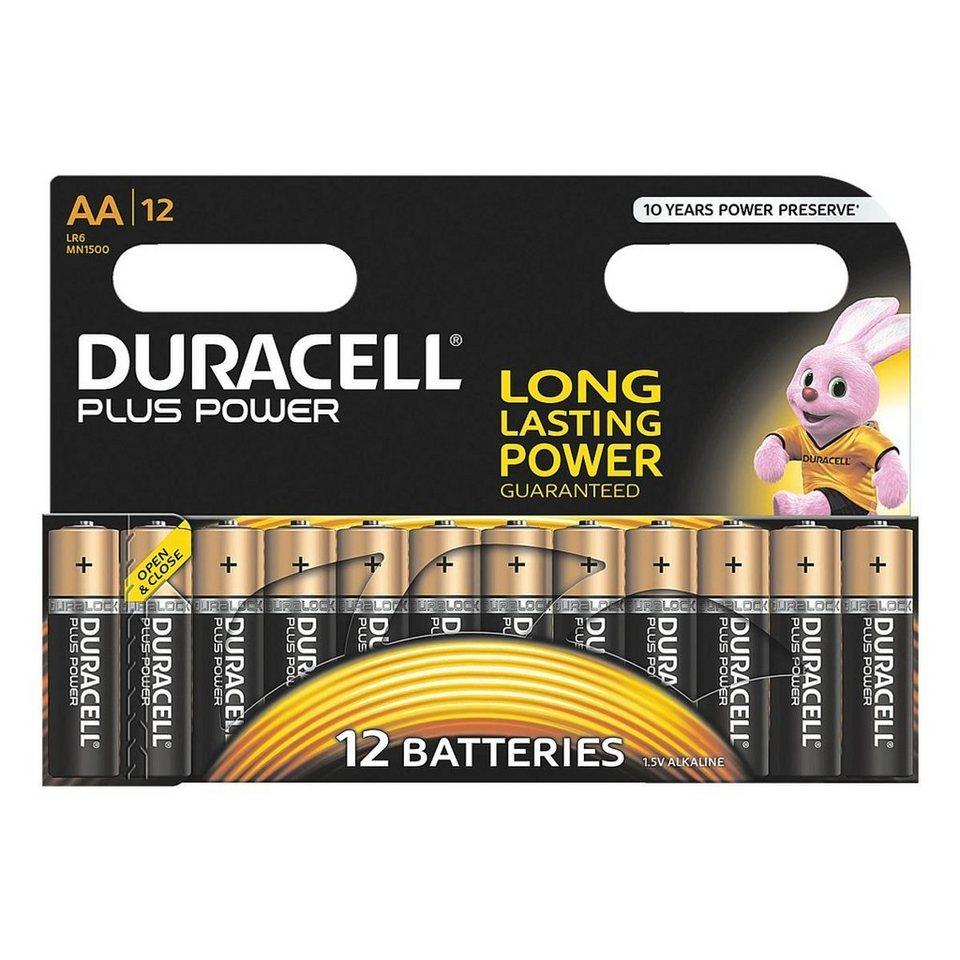 Duracell 12er-Pack Batterien »Plus« Mignon / AA / LR06