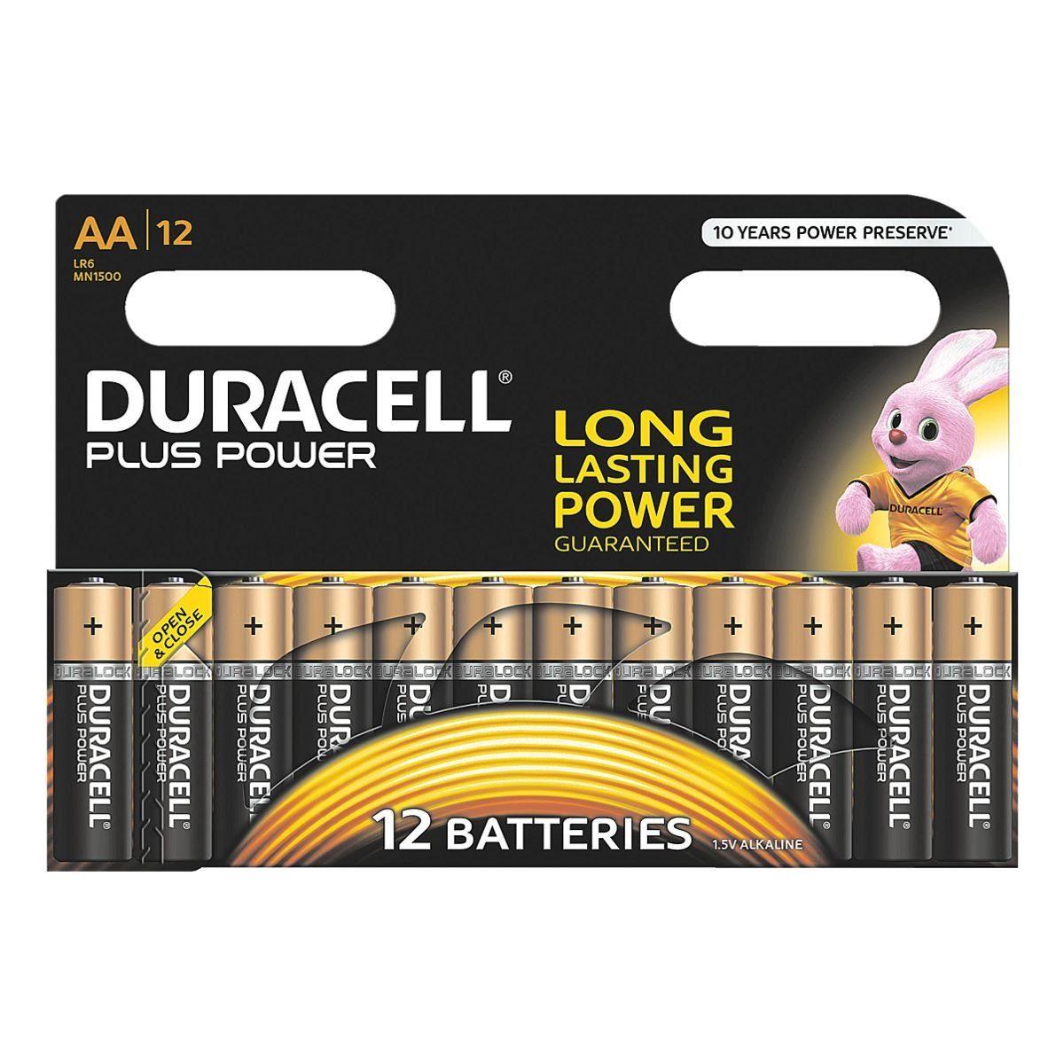 Duracell 12er-Pack Batterien Mignon / AA / LR06 »Plus Power«