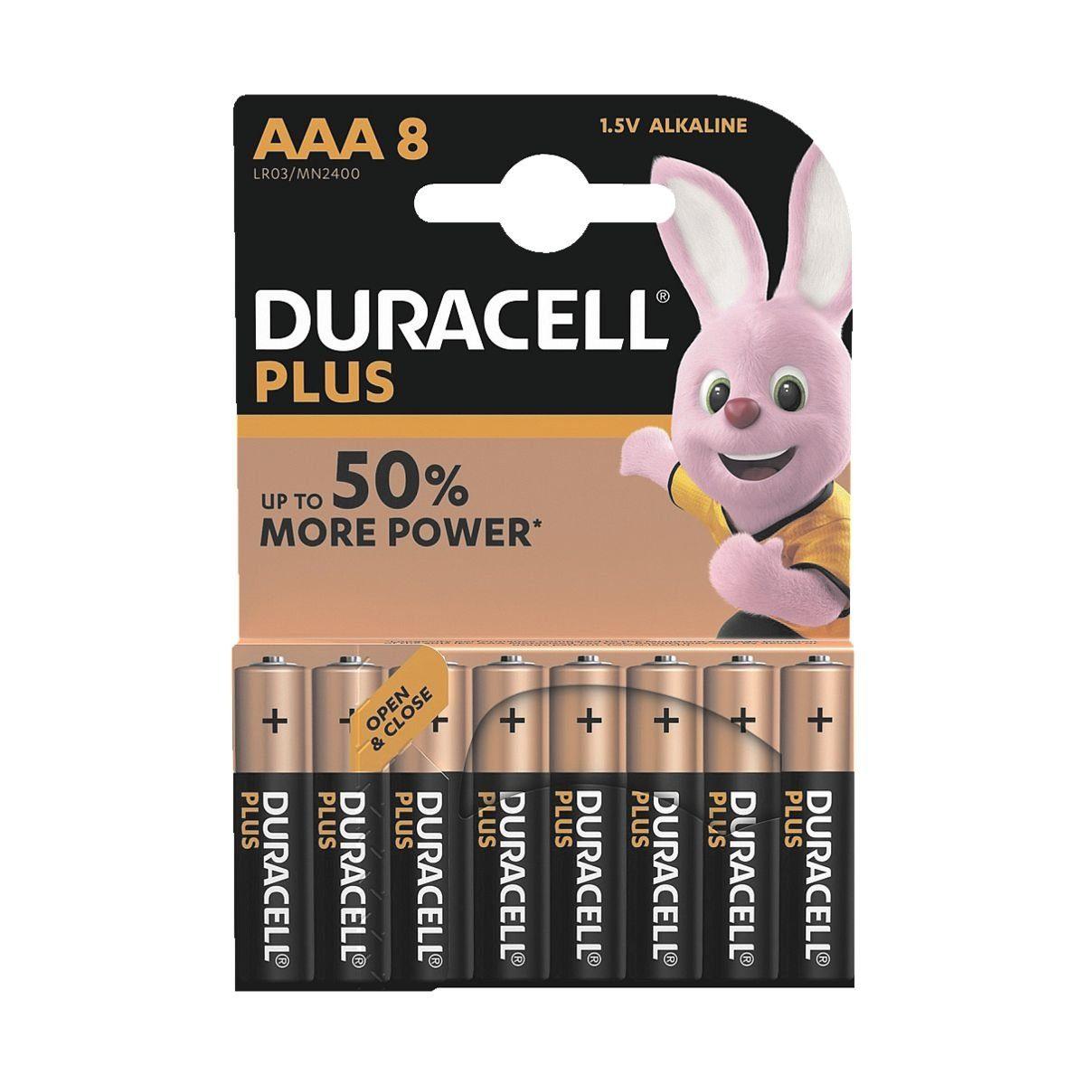 Duracell 8er-Pack Batterien Micro / AAA / LR03 »Plus Power«